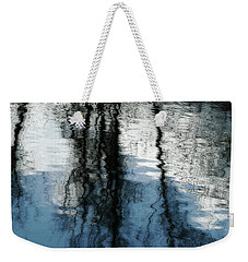 Blue And White Reflections Weekender Tote Bag