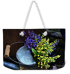 Blue And Yellow Flowers Weekender Tote Bag