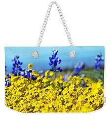 Blue And Yellow Wildflowers Weekender Tote Bag