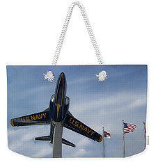 Weekender Tote Bag featuring the photograph Blue Angels Tribute by Victor Montgomery