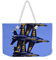 Blue Angels II Weekender Tote Bag by Bill Gallagher