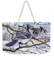 Blue Bandits Winter Afternoon Weekender Tote Bag