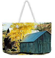 Blue Barn Weekender Tote Bag by Barbara Jewell