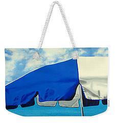 Blue Beach Umbrellas 1 Weekender Tote Bag