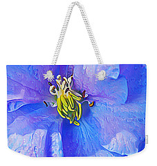 Blue Beauty Weekender Tote Bag by ABeautifulSky Photography