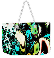 Weekender Tote Bag featuring the photograph Blue Beauty by Jessica Shelton