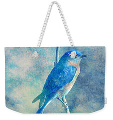 Blue Bird Blue Sky Weekender Tote Bag