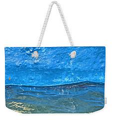 Blue Boat Abstract Weekender Tote Bag