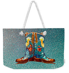 Blue Boots Weekender Tote Bag by Mayhem Mediums
