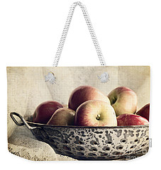 Blue Bowl Of Apples Weekender Tote Bag