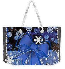 Blue Bows Weekender Tote Bag