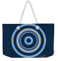 Blue Bull's Eye Weekender Tote Bag