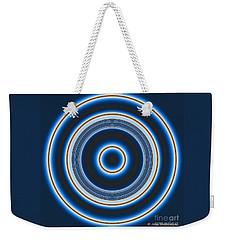 Blue Bull's Eye Weekender Tote Bag by Joan Hartenstein
