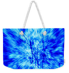 Blue Burst Of Autumn Weekender Tote Bag