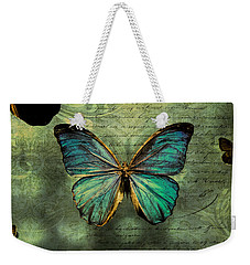 Blue Butterfly Weekender Tote Bag