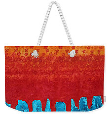 Blue Canyon Original Painting Weekender Tote Bag