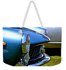 Weekender Tote Bag featuring the photograph Blue Car by Dean Ferreira