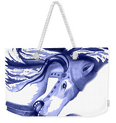 Blue Carrousel Horse Weekender Tote Bag