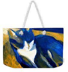 Blue Cat Weekender Tote Bag