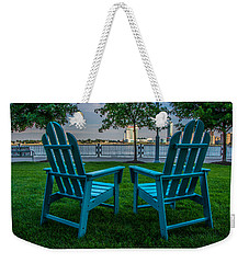 Blue Chairs Weekender Tote Bag