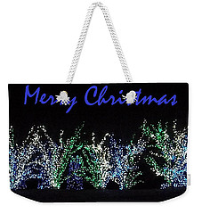 Blue Christmas Weekender Tote Bag by Darren Robinson