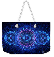 Blue Circle Fractal Weekender Tote Bag
