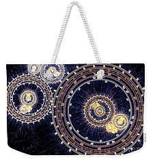 Blue Clockwork Weekender Tote Bag
