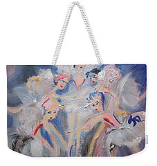 Blue Clouds The Ballet Weekender Tote Bag by Judith Desrosiers