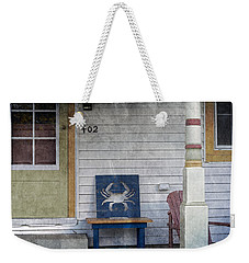 Blue Crab Chair Weekender Tote Bag