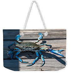 Blue Crab Pincher Weekender Tote Bag