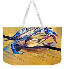 Blue Crabbie  Weekender Tote Bag