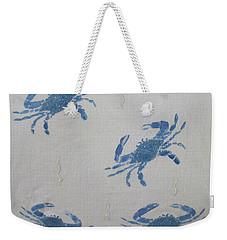 Blue Crabs On Sand Weekender Tote Bag
