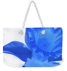 Weekender Tote Bag featuring the photograph Blue Daffodil by Andy Prendy