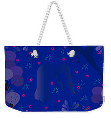 Blue Dance - Limited Edition  Of 30 Weekender Tote Bag by Gabriela Delgado