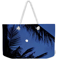 Blue Dawn Moon Weekender Tote Bag