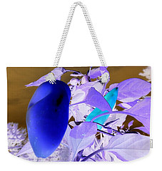 Weekender Tote Bag featuring the photograph Blue Delight by Mike Breau