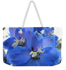 Blue Delphinium Rising Weekender Tote Bag