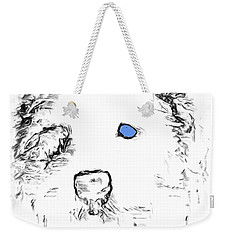 Blue Eyed Pup Weekender Tote Bag