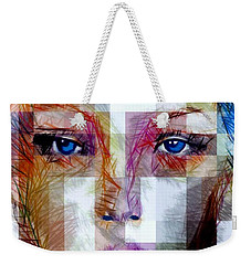 Blue Eyes Girl Weekender Tote Bag by Rafael Salazar