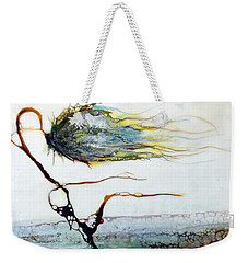 Blue Flower By Stream Weekender Tote Bag