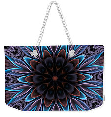 Weekender Tote Bag featuring the digital art Blue Flower by Lilia D
