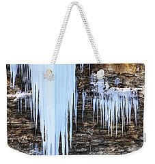 Blue Frozen Icicle Stalactites Weekender Tote Bag