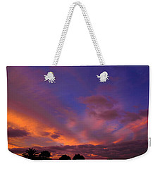 Weekender Tote Bag featuring the photograph Blue Gold Sunrise by Mark Blauhoefer