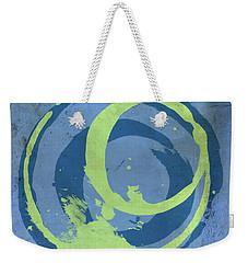 Blue Green 7 Weekender Tote Bag