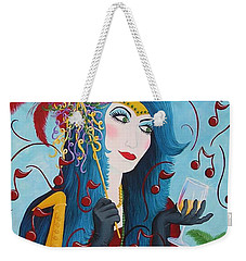 Blue Haired Lady Weekender Tote Bag