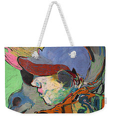 Blue Hat Jockey Weekender Tote Bag