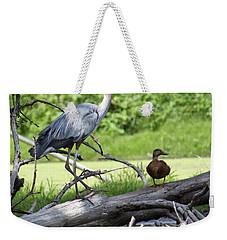 Blue Heron And Friend Weekender Tote Bag