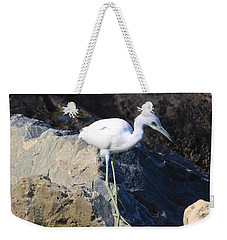 Weekender Tote Bag featuring the photograph Blue Heron  by Chris Thomas