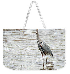 Weekender Tote Bag featuring the photograph Blue Heron by Michael Chatt