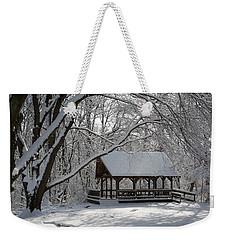 Blue Heron Park In Winter Weekender Tote Bag